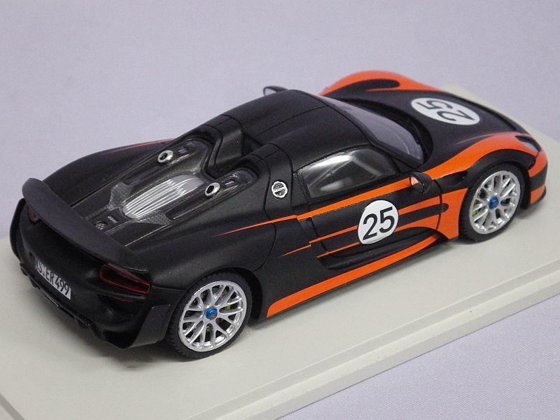スパーク ポルシェ 918 スパイダー Weissach Package 2013 Orange Mat Black