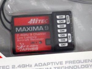 画像3: HITEC AFHSS 2.4GHz 9ch 小型受信機 MAXIMA 9