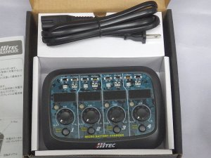 画像2: HITEC MICRO BATTERY CHARGER (AC/DC INPUT 1cell Li-Po CHARGER)