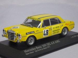 画像1: ミニチャンプス メルセデスベンツ 300SEL6.8AMG Hans Heyer テストドライブ ルマン 1972 YELLOW
