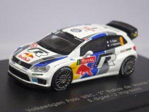 画像1: スパーク VW ポロ WRC-2nd #8 Rallye de Monte Carlo 2013 S.Ogier/J.Ingrassia BLUE/WHITE