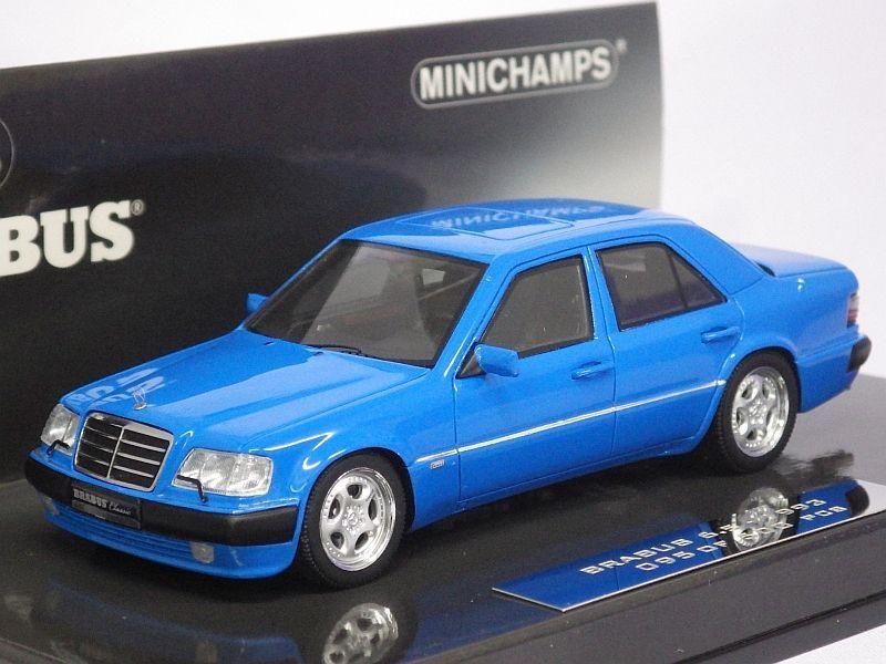 ミニチャンプス メルセデスベンツ ブラバス6 5 500e w124 1993 blue